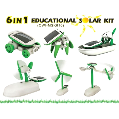 6 in 1 Educational Solar Kit - mini solar kit