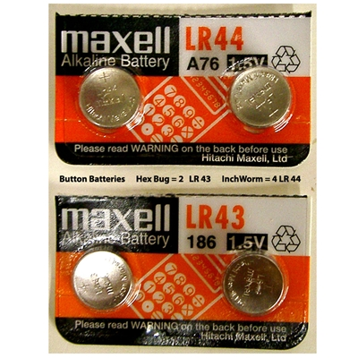 Maxell Alkaline Button Batteries LR-43/LR-44