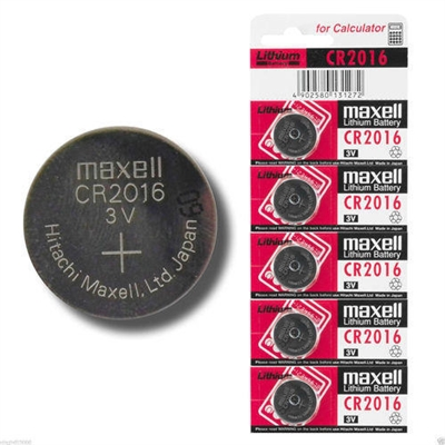 Maxell CR2016 3V Button Battery (Lithium)