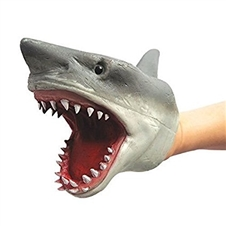 Stretchy Dog and Shark Puppets
