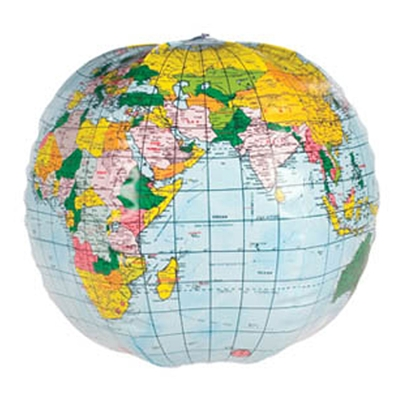 12 inch Inflatable World Globe