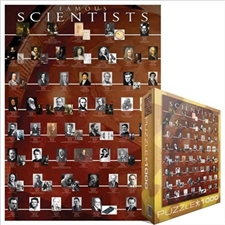 Eurographics 1000 pc Jigswaw Puzzle FAMOUS SCIENTISTS