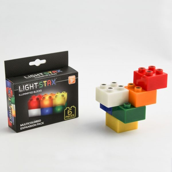 24-Piece Special Colors Expansion Set Light Stax Illuminated Building Blocks