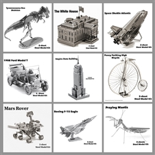 Metal Earth 3D Laser Cut Models