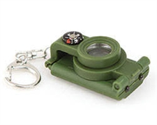 TELESCOPE COMPASS LED KEYRING